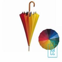 LR-80, Goedkope paraplu bedrukken, goedkope paraplu bedrukt, goedkope paraplu met logo, snel paraplu bedrukt, regenboog paraplu