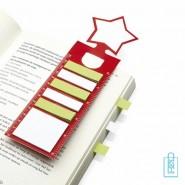 Stervormige boekenlegger bedrukken, boekenlegger bedrukt, goedkope kerstgeschenken bedrukken, kerst kantoorartikelen bedrukken