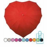hartvorm paraplu bedrukken, hartjesparaplu bedrukt, valentijns cadeau bedrukken, hart paraplu bedrukken, LR-8, bruidsparaplu bedrukken