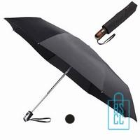 Opvouwbare paraplu bedrukken, LGF-430B, Zilver, bedrukte opvouwbare paraplu, goedkope zwarte paraplu bedrukken
