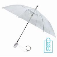 transparante paraplu bedrukken, TLP-4, Transparante paraplu bedrukt, doorzichtige paraplu bedrukken, doorzichtige paraplu bedrukt, transparante paraplu met logo