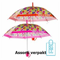 Tulp paraplu TLP-6 bedrukken assorti met logo