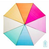 GP-27, Transparante paraplu, regenboog bedrukte paraplu, doorzichtige kleuren paraplu