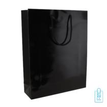 Glans gelamineerde tas bedrukken zwart