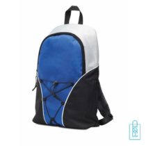 Rugzak compact bedrukken, blauwe rugzak bedrukt, goedkope rugzak bestellen