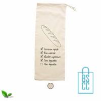 Katoenen stokbroodtasje bedrukken, katoenen tassen bedrukt, goedkope katoenen tas met logo