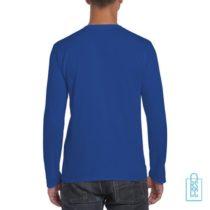 Longsleeve Heren Rond bedrukt blauw, longsleeve bedrukt, bedrukte longsleeve met logo