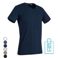 T-Shirt Heren V-Hals Cotton bedrukken, v-hals bedrukt, bedrukte v-hals met logo