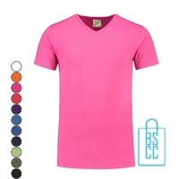 T-Shirt Heren V-Hals Premium bedrukken, v-hals bedrukt, bedrukte v-hals met logo