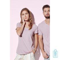 T-Shirt vrouwen lage hals bedrukt