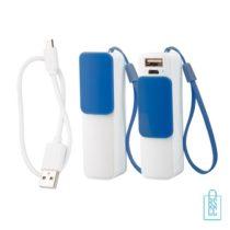 Goedkope powerbank USB bedrukken blauw