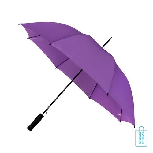 Goedkope paraplu bedrukken GP-31 paars met logo