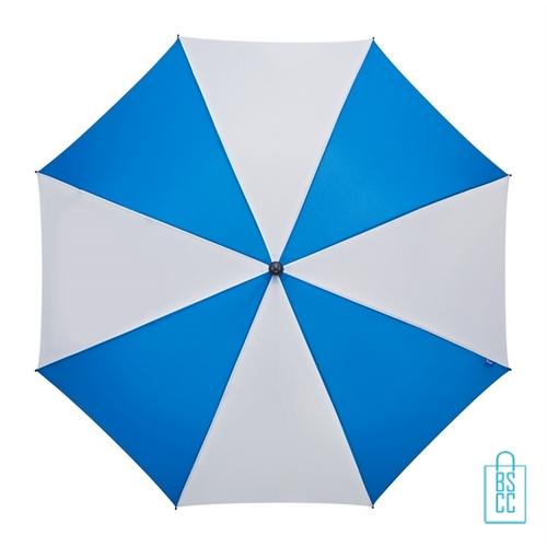 Golf paraplu bedrukt GP-36 blauw wit goedkoop